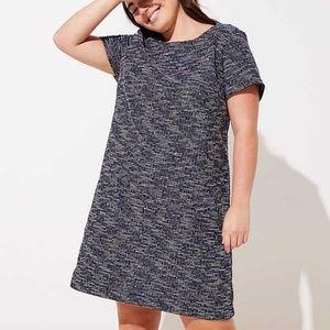 LOFT Plus Spacedye Shift Dress